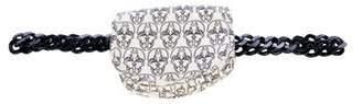 Thomas Wylde Leather Skull Print Waist Bag
