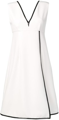 Gianluca Capannolo contrast piping dress