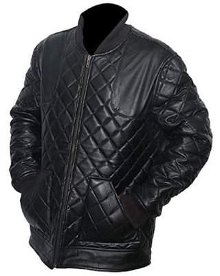 David Beckham De-Marca Black Quilted Bikers Geniune Leather Jacket For Men, Inspired