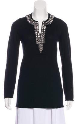Tory Burch Studded Knit Sweater