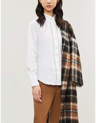 Brunello Cucinelli Boxy-fit cotton-blend shirt