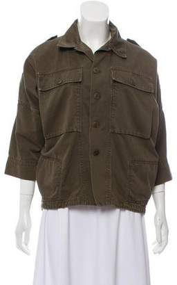 Band Of Outsiders High-Low Military Jacket