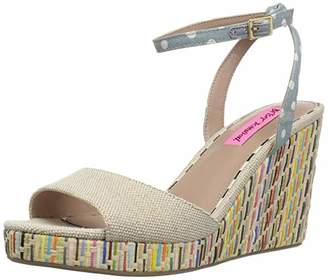 Betsey Johnson Women's DOTIE Wedge Sandal 10 M US