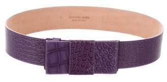 Michael Kors Embossed Leather Waist Belt