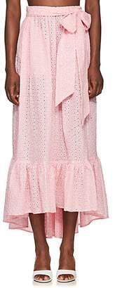 Lisa Marie Fernandez Women's Nicole Cotton Eyelet Skirt - Pink