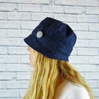 Cloche Moaning Minnie Yorkshire Twill Tweed Hat