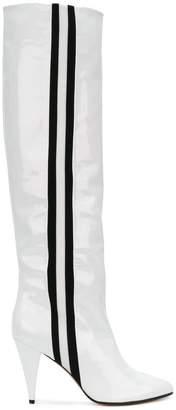 Ballin Alchimia Di side-striped knee boots