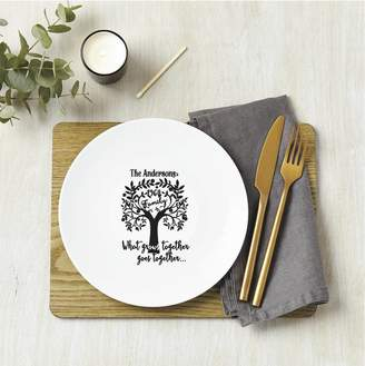 Tillie Mint Loves Personalised Family Tree Surname Ceramic Plate