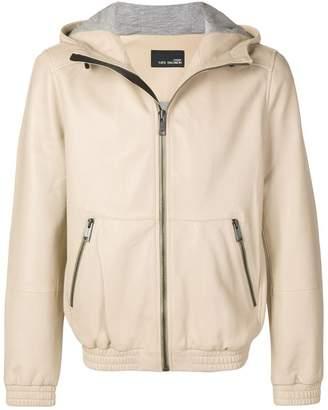 Yves Salomon hooded leather jacket