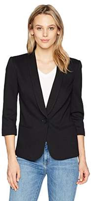 James Jeans Women's Shrunken Tuxedo Slim Collar Jacket
