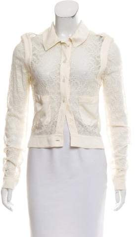 Chanel Lace Long Sleeve Blouse