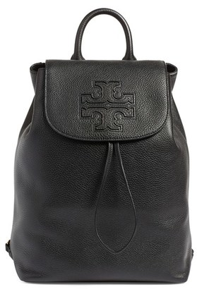 Tory Burch 'Harper' Leather Backpack - Black $495 thestylecure.com