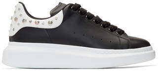 Alexander McQueen Black and White Studded Oversized Sneakers