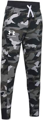 Under Armour Boy's Rival Printed Cotton-Blend Fleece Jogger Pants