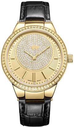 JBW Camille 18k Gold-Plated Stainless Steel 0.16 C.T.W Diamond Accent Womens Black Bracelet Watch-J6345c