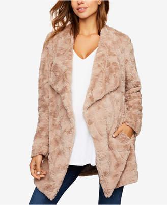 BB Dakota Maternity Faux-Fur Jacket