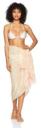 Sunset City Women's Beachwear Pareo Cotton Lightweight Orange/Multi