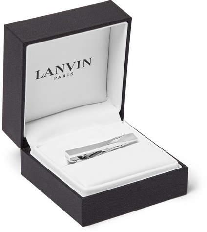 Lanvin Brushed Silver-Tone Tie Clip