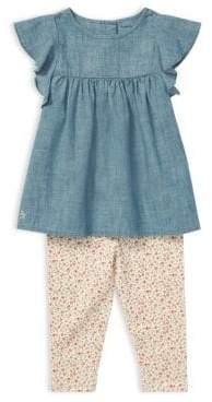 Ralph Lauren Baby Girl's Two-Piece Chambray Top& Jersey Leggings Set