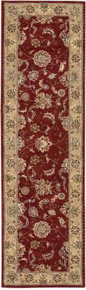 """Nourison Wool & Silk 2000 2203 Brick 2'6"""" x 12' Runner Rug"""