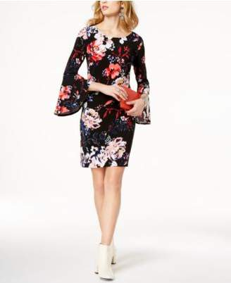 INC International Concepts I.N.C. Floral-Print Bell-Sleeve Dress, Created for Macy's
