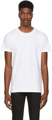 Naked & Famous Denim Denim White Ringspun Cotton T-Shirt