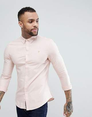 Farah Brewer Slim Fit Oxford Shirt in Pink