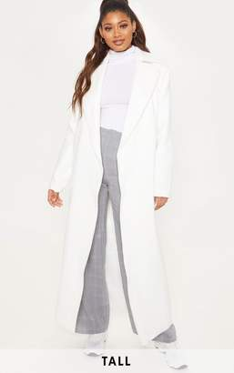 PrettyLittleThing Tall Cream Belted Coat