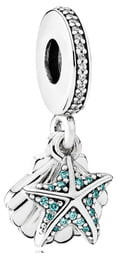 Pandora Tropical Starfish & Seashell Dangle Charm