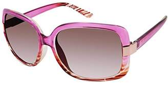 Elie Tahari Women's Th124 Pkf Rectangular Sunglasses