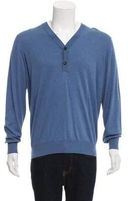 Brunello Cucinelli Knit V-Neck Sweater w/ Tags