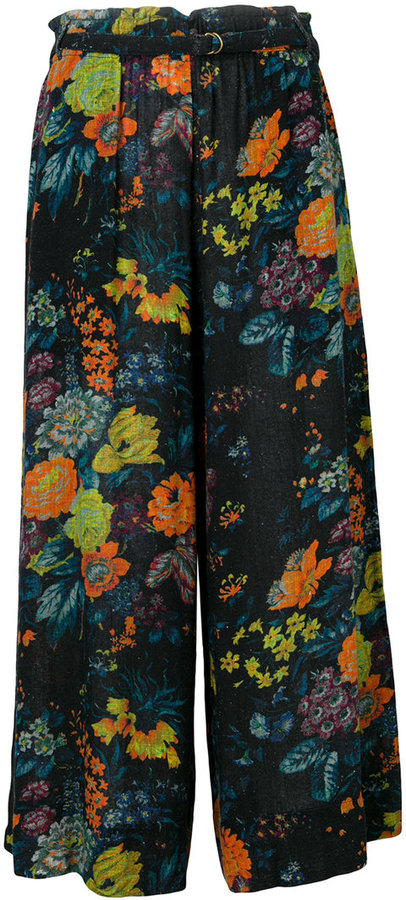 Raquel Allegra cropped floral palazzo pants
