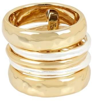Robert Lee Morris Linked Stack Ring Set - Size 7.5