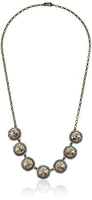 Sorrelli Women's Washed Waterfront Tiered Halo Crystal Necklace