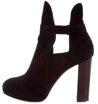 Céline Platform Suede Ankle Boots