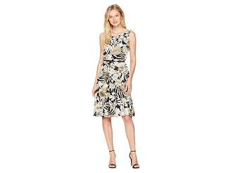 Nine West Sleeveless Fit Flare Printed Dress Women's Dress