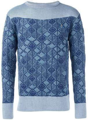 Vivienne Westwood patterned long sleeve jumper