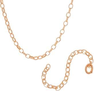 "Bronze Rolo Link 20"" Necklace & Bracelet Set by Bronzo Italia"