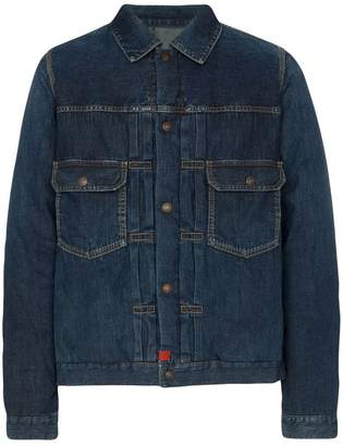 Visvim 101 feather down padded denim jacket