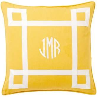 Pottery Barn Teen Ribbon Trim Monogram Pillow Cover, Purple