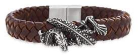Lord & Taylor Stainless Steel Dragon Braided Bracelet