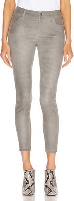 RtA Prince Leather Skinny in Grey | FWRD