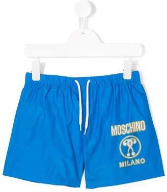 Moschino Kids logo printed swim shorts