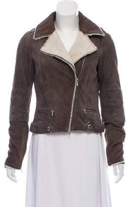 Chanel Suede Moto Jacket