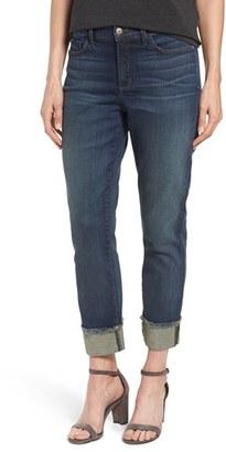Women's Nydj 'Marnie' Stretch Cuffed Boyfriend Jeans $134 thestylecure.com