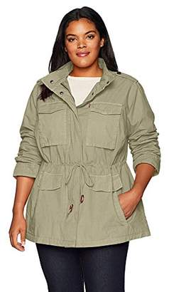 Levi's Women's Plus-Size Parachute Cotton Military Jacket