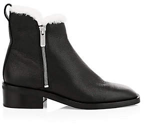3.1 Phillip Lim Women's Alexa Shearling-Lined Leather Ankle Boots