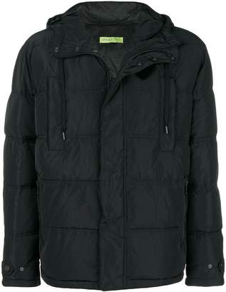 Versace patch embellished padded jacket