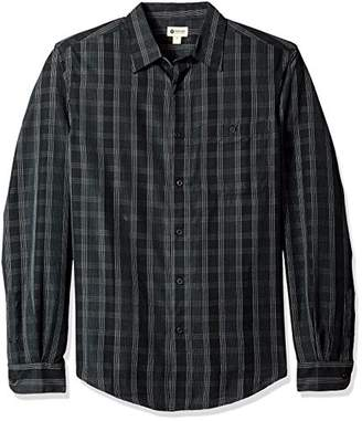 Haggar Men's Big and Tall Long Sleeve Sueded Effect Microfiber Shirt