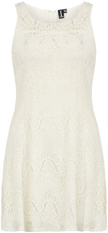 Dorothy Perkins White lace fit and flare dress